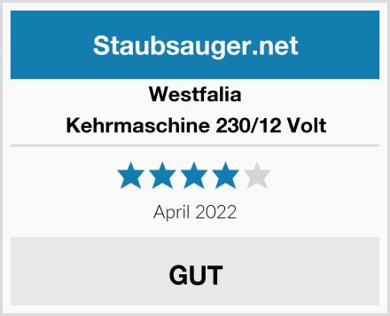 Westfalia Kehrmaschine 230/12 Volt Test