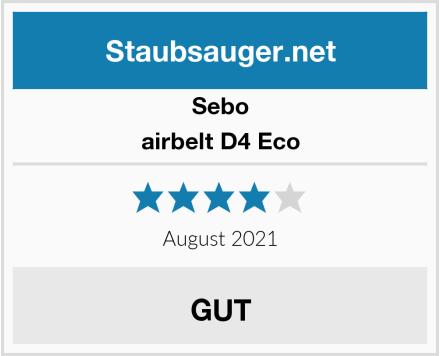 Sebo airbelt D4 Eco Test
