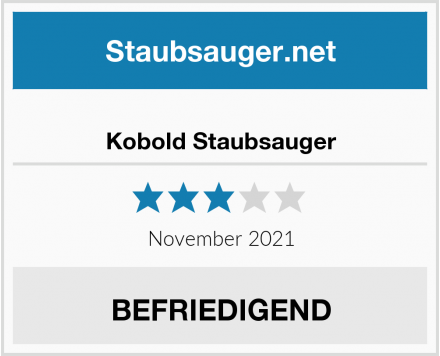 Vorwerk Kobold Staubsauger Test