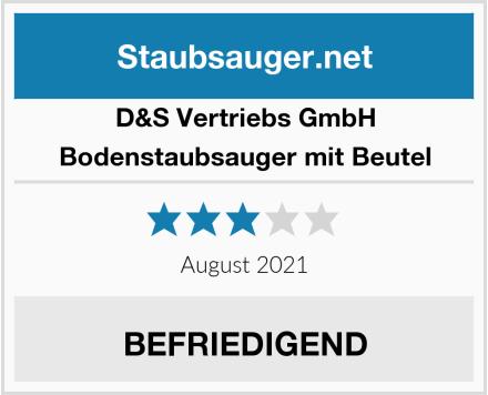 D&S Vertriebs GmbH Bodenstaubsauger mit Beutel Test