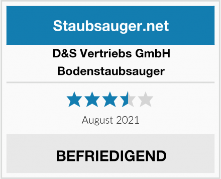 D&S Vertriebs GmbH Bodenstaubsauger Test
