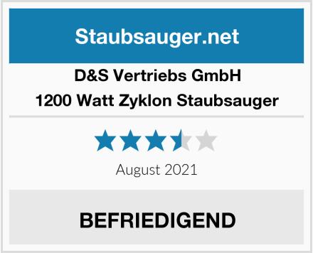 D&S Vertriebs GmbH 1200 Watt Zyklon Staubsauger Test