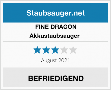 FINE DRAGON Akkustaubsauger  Test