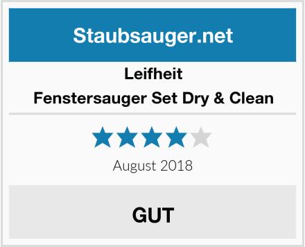 Leifheit Fenstersauger Set Dry & Clean Test