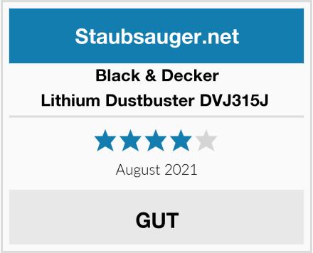 Black & Decker Lithium Dustbuster DVJ315J  Test