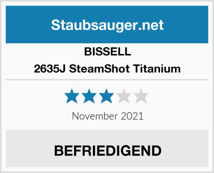 Bissell 2635J SteamShot Titanium  Test