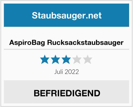 SUMGOTT AspiroBag Rucksackstaubsauger Test