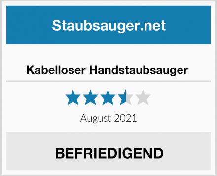 No Name Kabelloser Handstaubsauger  Test