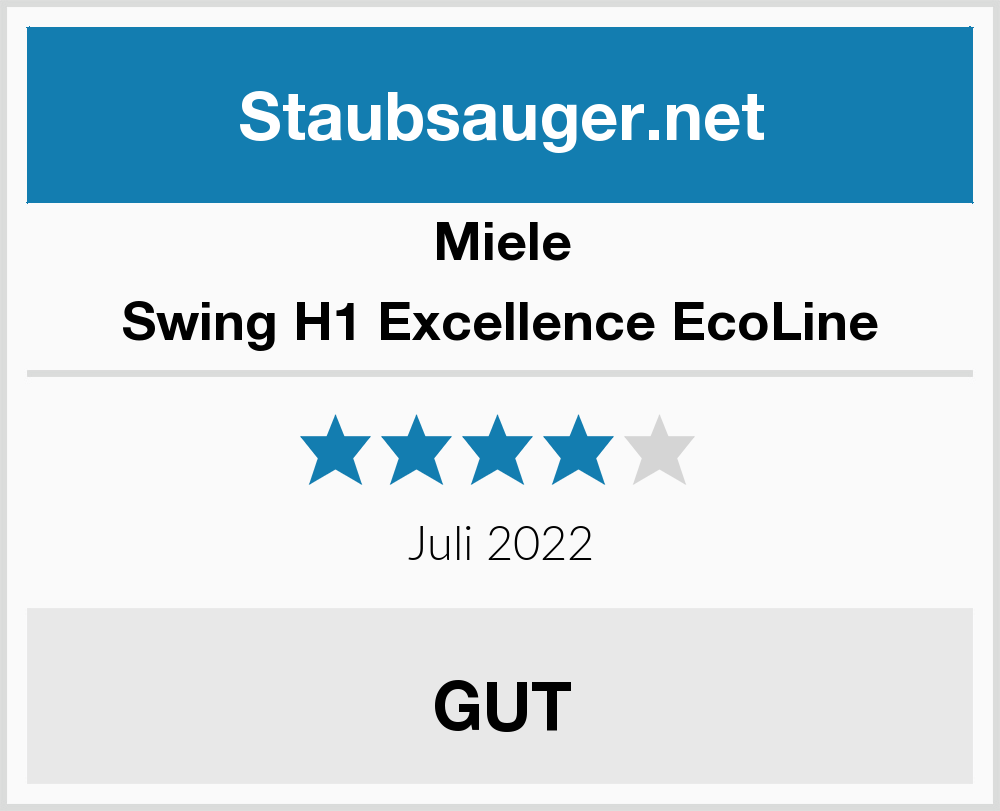 Miele Swing H1 Excellence Ecoline Staubsauger Test 2019