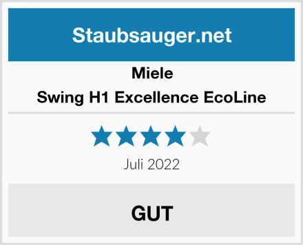 Miele Swing H1 Excellence EcoLine Test