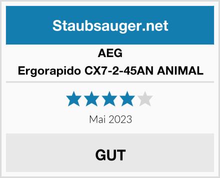 AEG Ergorapido CX7-2-45AN ANIMAL Test