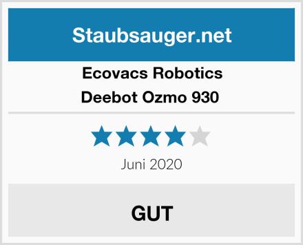Ecovacs Robotics Deebot Ozmo 930  Test