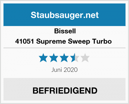 Bissell 41051 Supreme Sweep Turbo  Test