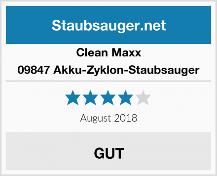 Clean Maxx 09847 Akku-Zyklon-Staubsauger Test