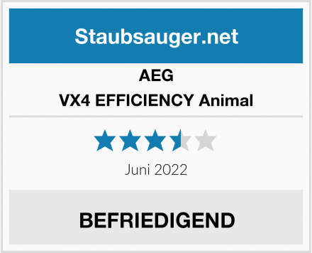 AEG VX4 EFFICIENCY Animal  Test