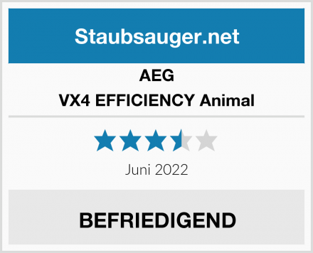 AEG VX4 EFFICIENCY Animal  Test