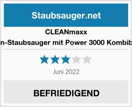 Clean Maxx Zyklon-Staubsauger mit Power 3000 Kombibürste Test
