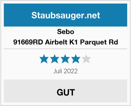 Sebo 91669RD Airbelt K1 Parquet Rd Test