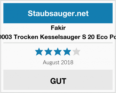 Fakir 2640003 Trocken Kesselsauger S 20 Eco Power Test