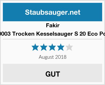 Fakir 2640003 Trocken Kesselsauger S 20 Eco Power Test