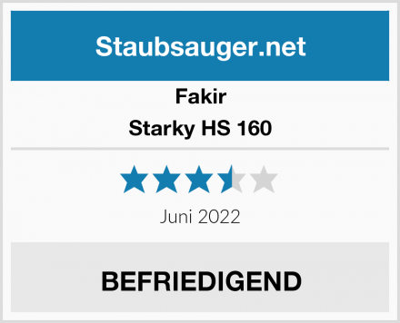 Fakir Starky HS 160  Test