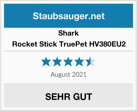 Shark Rocket Stick TruePet HV380EU2 Test