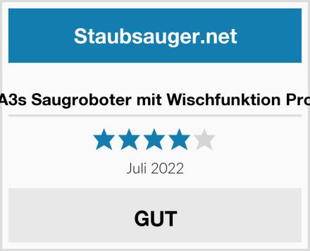 A3s Saugroboter mit Wischfunktion Pro Test