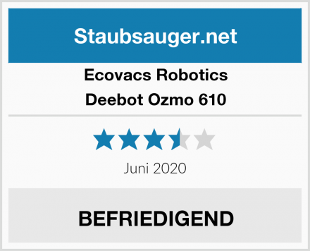 Ecovacs Robotics Deebot Ozmo 610 Test