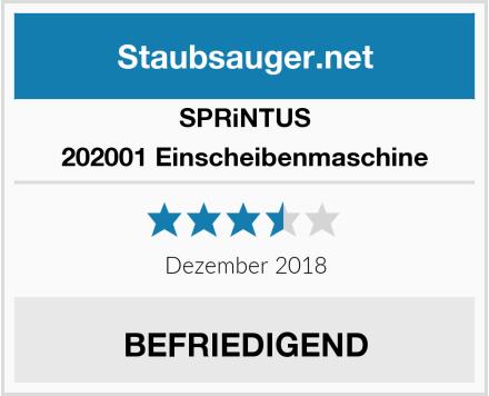Sprintus 202001 Einscheibenmaschine Test