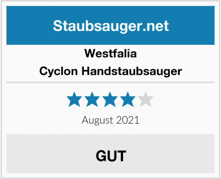 Westfalia Cyclon Handstaubsauger Test