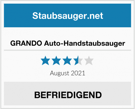 No Name GRANDO Auto-Handstaubsauger Test