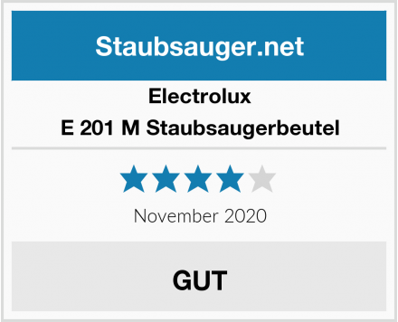 Electrolux E 201 M Staubsaugerbeutel Test