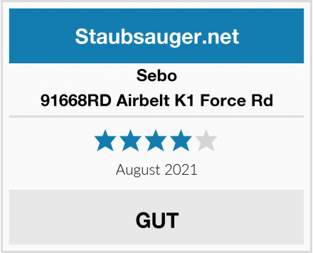 Sebo 91668RD Airbelt K1 Force Rd Test