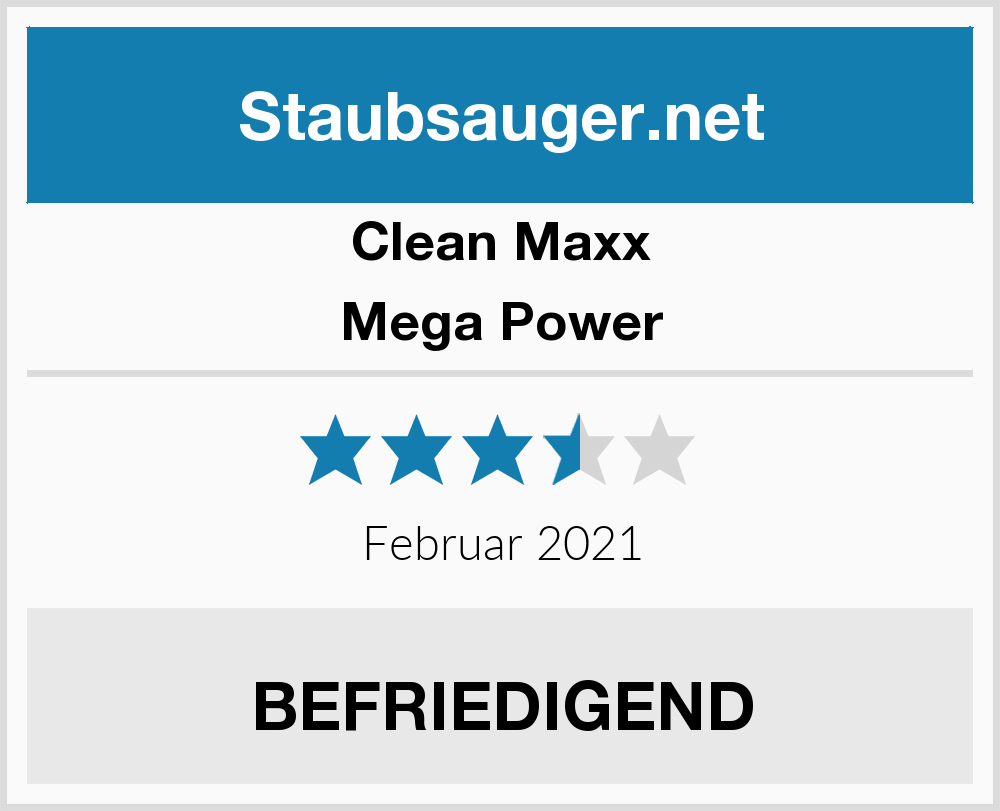 clean maxx mega power staubsauger test 2018. Black Bedroom Furniture Sets. Home Design Ideas