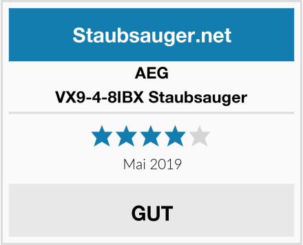 AEG VX9-4-8IBX Staubsauger Test