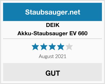 Deik Akku-Staubsauger EV 660 Test