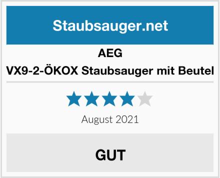 AEG VX9-2-ÖKOX Staubsauger mit Beutel Test