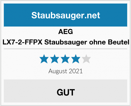 AEG LX7-2-FFPX Staubsauger ohne Beutel Test