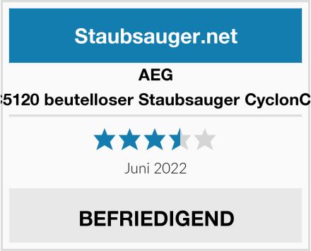 AEG ACC5120 beutelloser Staubsauger CyclonClean Test