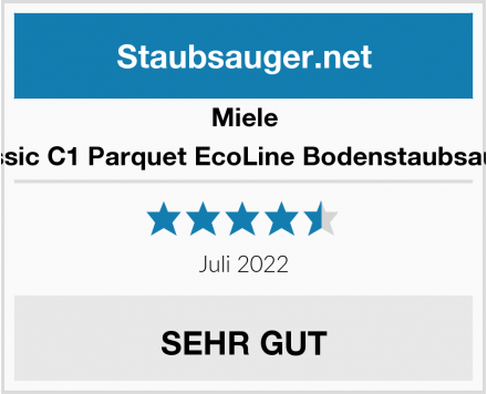 Miele Classic C1 Parquet EcoLine Bodenstaubsauger Test
