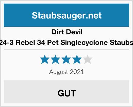 Dirt Devil DD2424-3 Rebel 34 Pet Singlecyclone Staubsauger Test