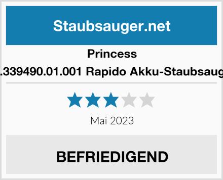 Princess 01.339490.01.001 Rapido Akku-Staubsauger Test