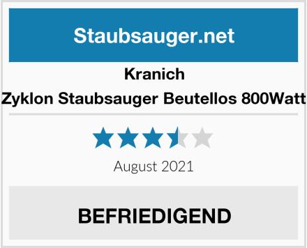 Kranich Zyklon Staubsauger Beutellos 800Watt Test