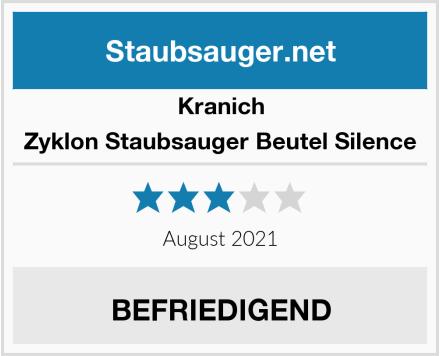 Kranich Zyklon Staubsauger Beutel Silence Test