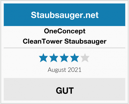 OneConcept CleanTower Staubsauger Test