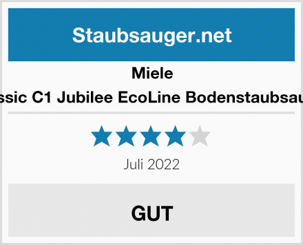 Miele Classic C1 Jubilee EcoLine Bodenstaubsauger Test