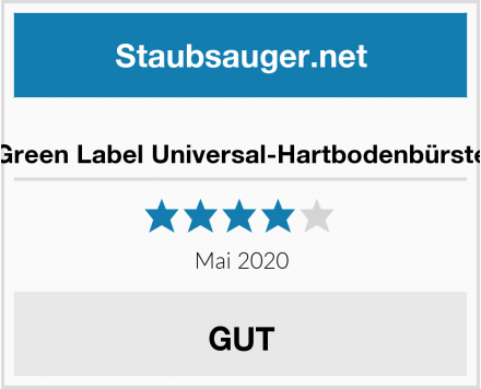 Green Label Universal-Hartbodenbürste Test