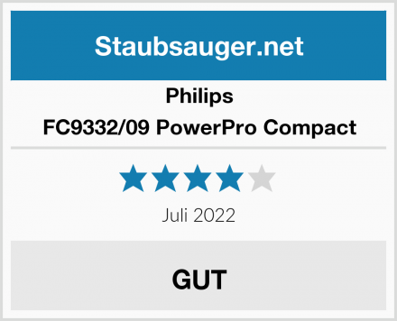 Philips FC9332/09 PowerPro Compact Test
