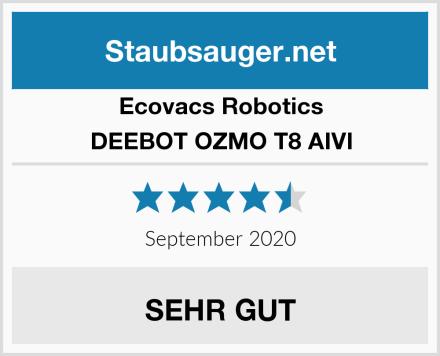 Ecovacs Robotics DEEBOT OZMO T8 AIVI Test
