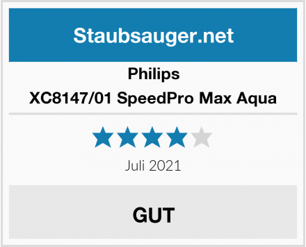 Philips XC8147/01 SpeedPro Max Aqua Test